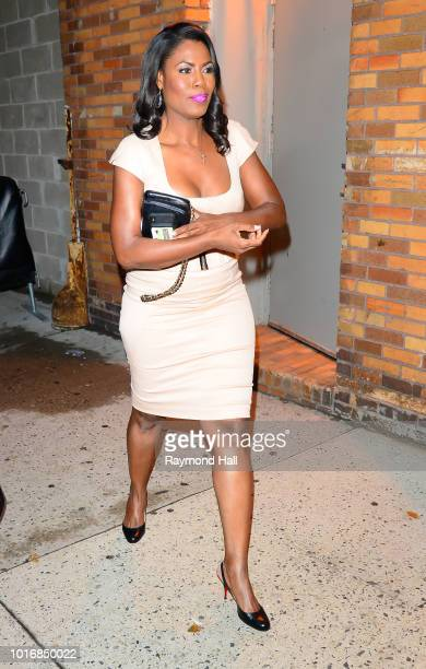 Omarosa Manigault Newman is seen walking out of the Daily Show on August 14 2018 in New York City