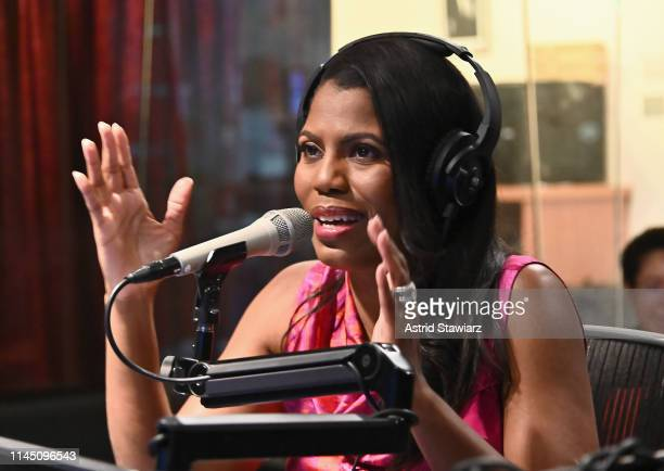 Omarosa Manigault Newman visits the SiriusXM Studios on April 25 2019 in New York City