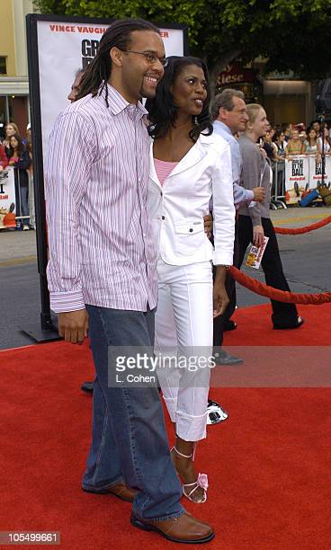 Omarosa ManigaultStallworth and Aaron Stallworth during Dodgeball A True Underdog Story World Premiere Red Carpet at Mann Village Theater in Westwood...