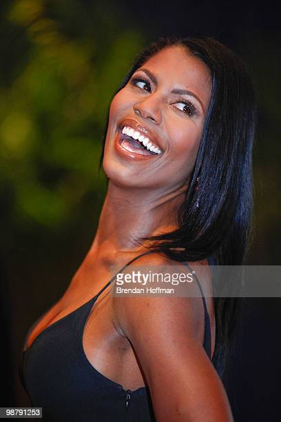 Omarosa ManigaultStallworth arrives at the White House Correspondents' Association dinner on May 1 2010 in Washington DC The annual dinner featured...