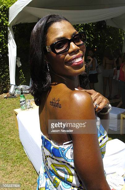 Omarosa ManigaultStallworth in Gucci 1792S during Solstice Sunglass Boutique at the MTV Video Music Awards Style Villa at Sagamore Hotel in Miami...