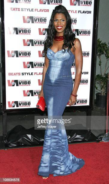 Omarosa ManigaultStallwoth during 2005 Vibe Awards Arrivals at Sony Studios in Culver City California United States