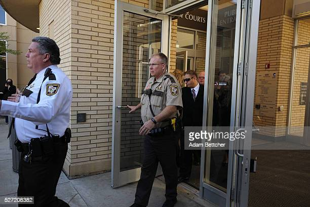 Omarr Baker halfbrother of Prince exits the Carver County court house after the first hearing on the musician's estate on May 2 2016 in Chaska...