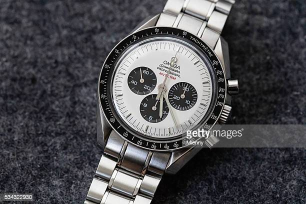 Omega Speedmaster Professional Apollo XI Watch Rare White Panda Dial