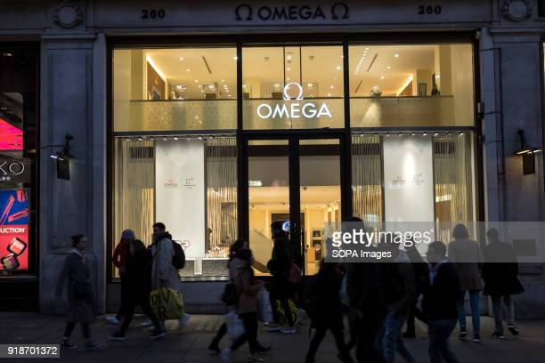 Omega store seen in London famous Oxford street Central London is one of the most attractive tourist attraction for individuals whose willing to shop...