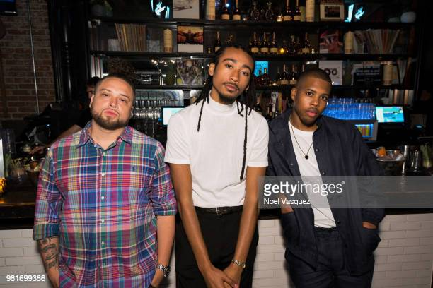 DJ Omega Topaz Jones and Kevin Storey attend a party hosted by CAA Remy Martin at Luchini on June 21 2018 in Los Angeles California