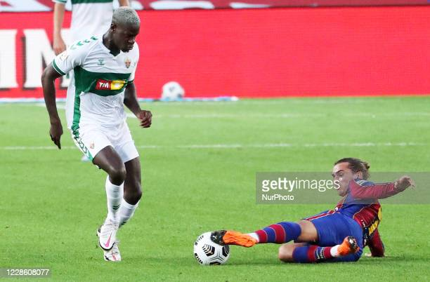 Omenuke Mfulu and Antoine Griezmann during the Joan Gamper Trophy match between FC Barcelona and Elche CF played at the Camp Nou Stadium on 19th...