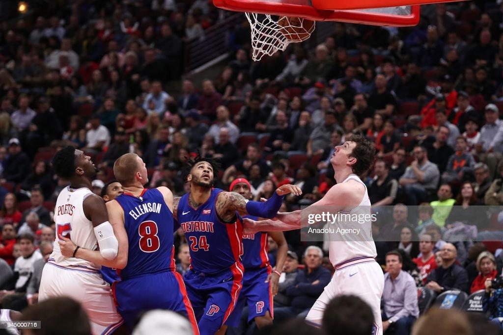 NBA: Chicago Bulls v Detroit Pistons : News Photo