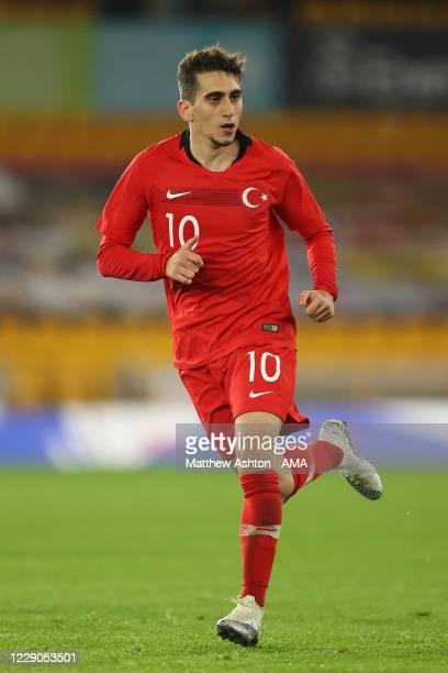 Omer Faruk Beyaz of Turkey u21s during the UEFA Euro Under 21 Qualifier match between England U21 and Turkey U21 at Molineux on October 13, 2020 in...