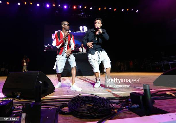 Omi and Shaggy perform onstage at KTUphoria 2017 at Northwell Health at Jones Beach Theater on June 3 2017 in Wantagh New York