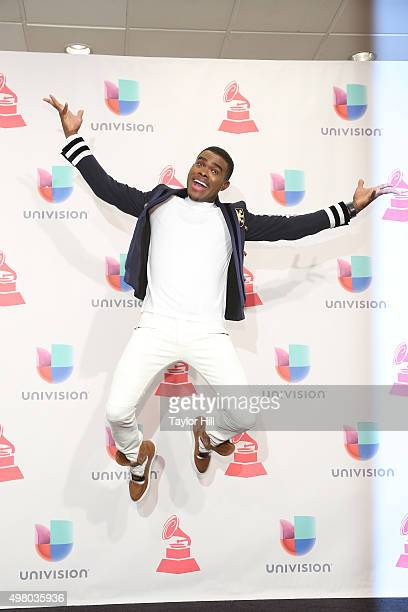 Omi poses in the press room during the 16th Annual Latin GRAMMY Awards at the MGM Grand Arena on November 19 2015 in Las Vegas Nevada