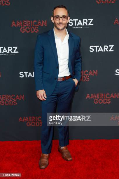 Omid Abtahi attends the premiere of STARZ's 'American Gods' season 2 at Ace Hotel on March 05 2019 in Los Angeles California