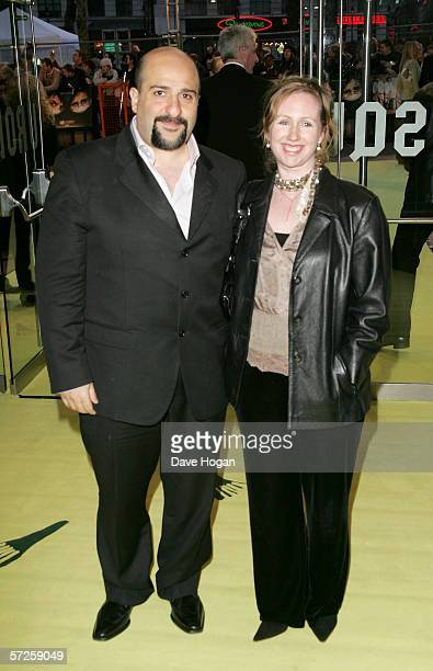 Omid Djalili and Annabel Knight arrive at the World Premiere of 'Alien Autopsy' at Odeon Leicester Square on April 3 2006 in London England