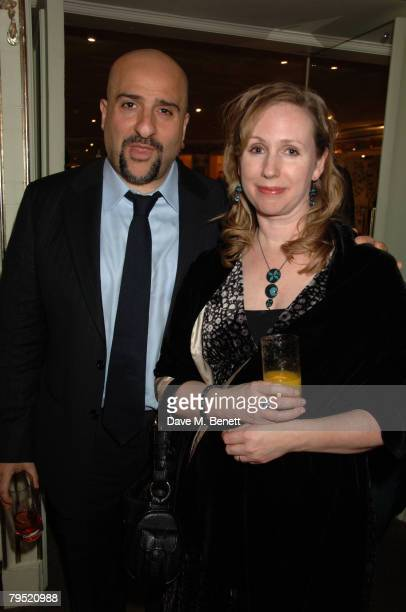 Omid Djalili and Annabel Knight attend the Chain of Hope Annual Ball at the Dorchester Hotel on February 4 2008 in London England