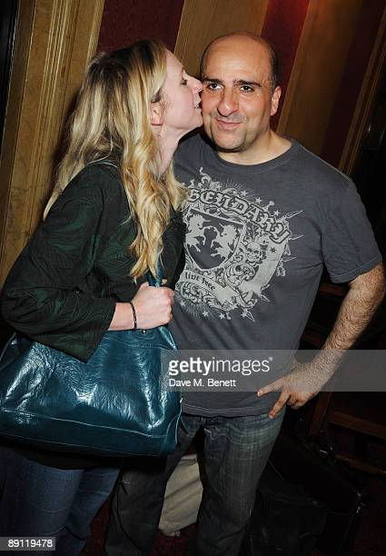 Omid Djalili and his wife Annabel Knight attend the cast change of ''Oliver'' at the Theatre Royal Drury Lane on July 20 2009 in London England
