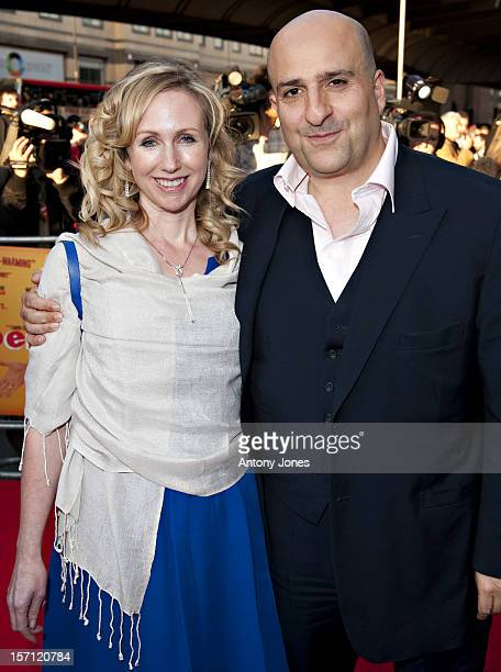 Omid Djalili And Wife Annabel Knight Arrive At The Premiere Of Infidel Held At The Hammersmith Apollo In West London