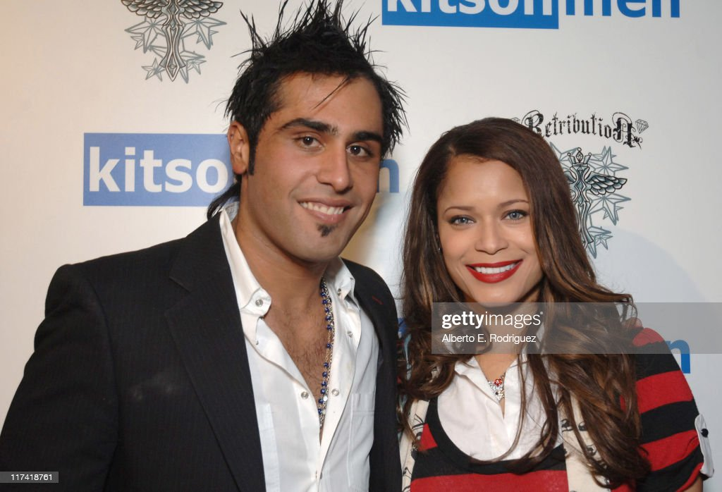 Omid Lari and Blu Cantrell during The Retribution Launch Party and Trunk Show at Kitson Men at Kitson Men in Beverly Hills, California, United States.