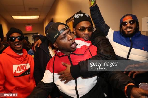 Omillio Sparks, Freekey Zekey, Beanie Sigel, and Peedi Crakk attend D'usse Palooza at Barclays Center on December 13, 2019 in New York City.