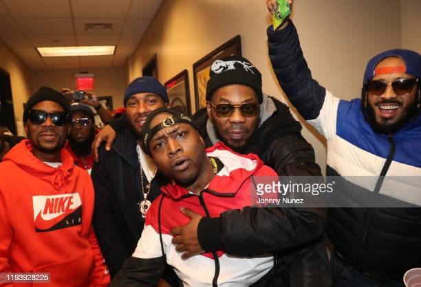 Omillio Sparks, Freeway, Neef Buck, Freekey Zekey, Beanie Sigel, and Peedi Crakk attend D'usse Palooza at Barclays Center on December 13, 2019 in New...