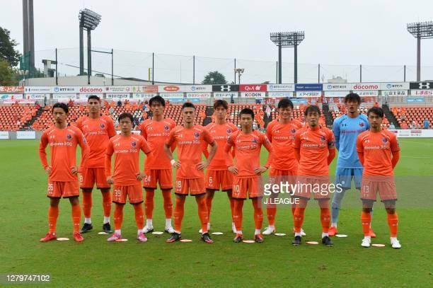 Omiya Ardija players line up for the team photos prior to the J.League Meiji Yasuda J2 match between Omiya Ardija and Tochigi SC at NACK5 Stadium...