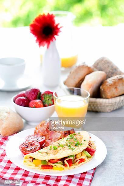 Omelett- für Frühstück