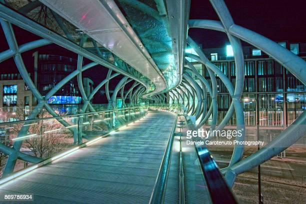 omni bridge - footbridge stock photos and pictures