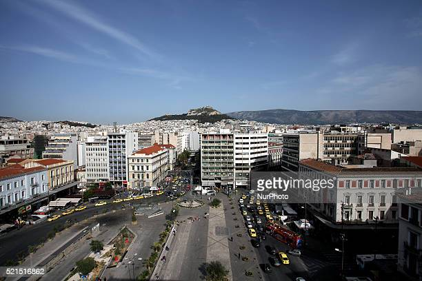 Omonoia square, one of the oldest squares in the city of Athens. It is located at the center of the city at the intersection of six main streets,...