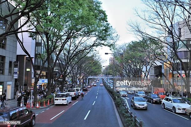 omotesando at dusk - 表参道 ストックフォトと画像