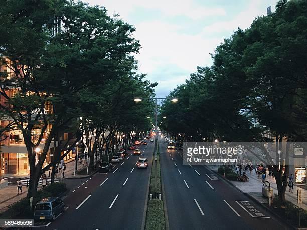 Omotesando shopping street in Tokyo, Japan