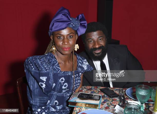 Omoyemi Akerele and guest attend the gala dinner in honour of Edward Enninful winner of the Global VOICES Award 2019 during #BoFVOICES on November 22...