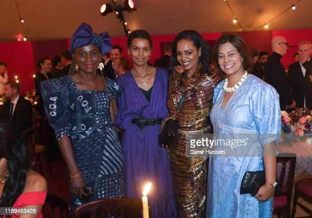 Omoyemi Akerele Liya Kebede Rozan Ahmed and Zain Verjee attend the gala dinner in honour of Edward Enninful winner of the Global VOICES Award 2019...