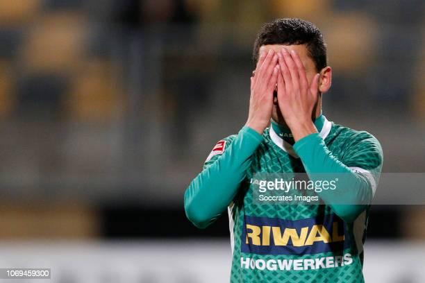 Omran Haydary of FC Dordrecht during the Dutch Keuken Kampioen Divisie match between Roda JC v FC Dordrecht at the Parkstad Limburg Stadium on...