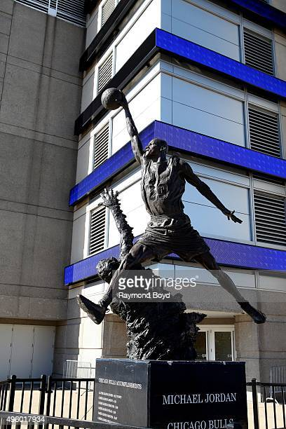 Omri Amrany and Julie RotblattAmrany's Michael Jordan statue officially known as 'The Spirit' sits outside the United Center home of the Chicago...