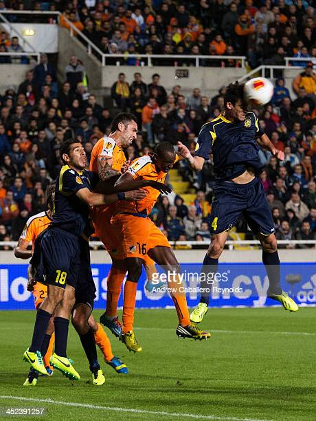 Omri Ben Harush of Maccabi TelAviv FC in action during the UEFA Europa League Group F match against APOEL FC on November 28 2013 in Nicosia Cyprus