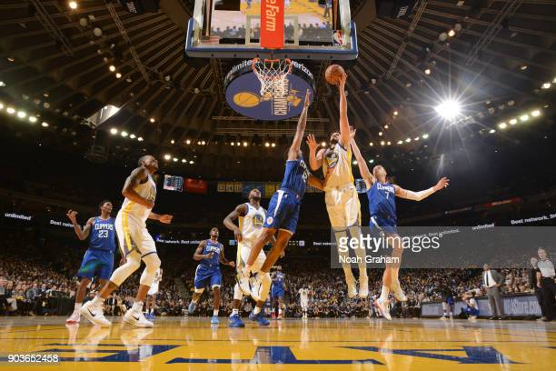 Omri Casspi of the Golden State Warriors goes to the basket against the LA Clippers on January 10 2018 at ORACLE Arena in Oakland California NOTE TO...
