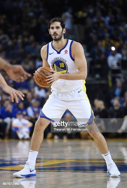 Omri Casspi of the Golden State Warriors looks to pass the ball against the Dallas Mavericks during an NBA basketball game at ORACLE Arena on...