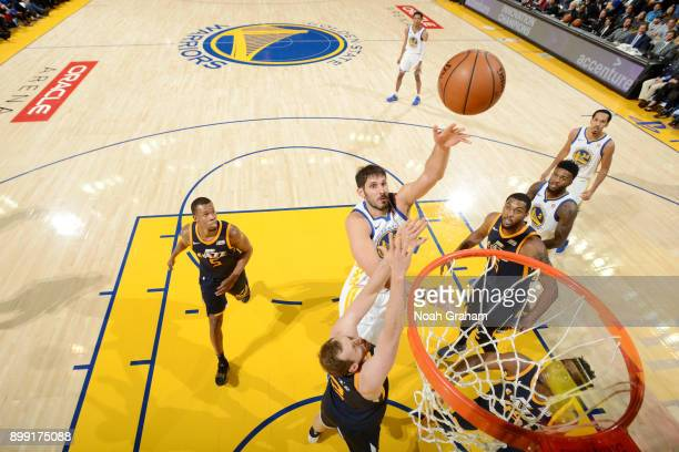 Omri Casspi of the Golden State Warriors shoots the ball against the Utah Jazz on December 27 2017 at ORACLE Arena in Oakland California NOTE TO USER...