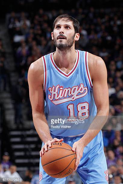 Omri Casspi of the Sacramento Kings attempts a free throw shot against the Houston Rockets on November 25 2016 at Golden 1 Center in Sacramento...