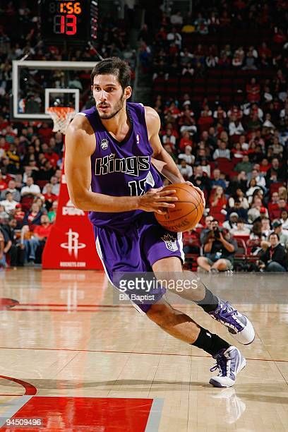 Omri Casspi of the Sacramento Kings drives the ball to the basket during the game against the Houston Rockets on November 21 2009 at the Toyota...