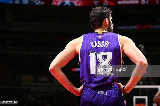 Omri Casspi of the Sacramento Kings is seen during the game against the Washington Wizards on December 21 2015 at Verizon Center in Washington DC...