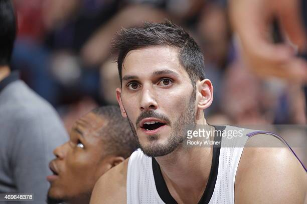 Omri Casspi of the Sacramento Kings looks on during the game against the Utah Jazz on April 5 2015 at Sleep Train Arena in Sacramento California NOTE...