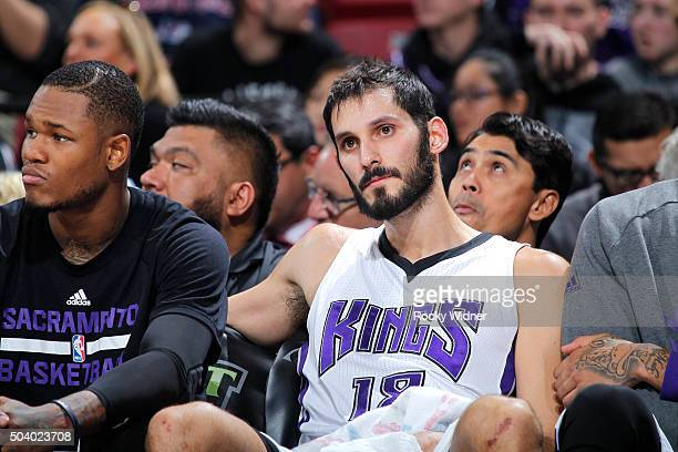 Omri Casspi of the Sacramento Kings looks on during the game against the Phoenix Suns on January 2 2016 at Sleep Train Arena in Sacramento California...