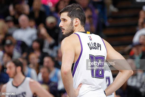 Omri Casspi of the Sacramento Kings looks on during the game against the Indiana Pacers on January 23 2016 at Sleep Train Arena in Sacramento...