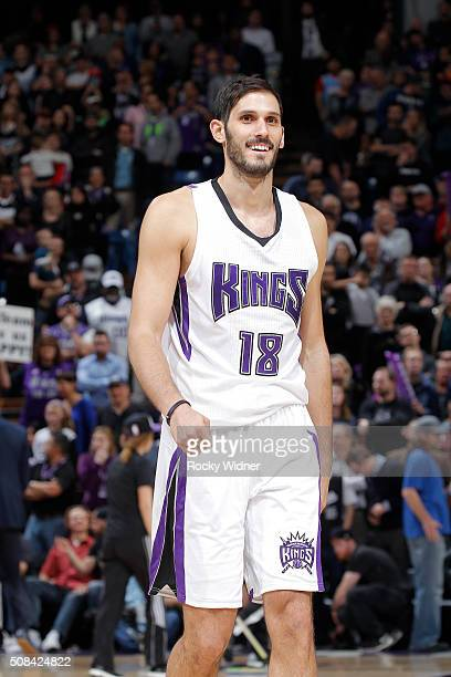 Omri Casspi of the Sacramento Kings looks on during the game against the Charlotte Hornets on January 25 2016 at Sleep Train Arena in Sacramento...