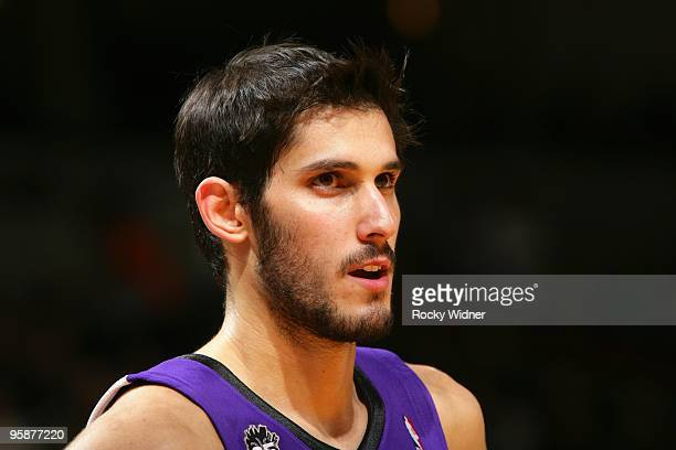 Omri Casspi of the Sacramento Kings looks on during the game against the Golden State Warriors at Oracle Arena on January 8 2010 in Oakland...