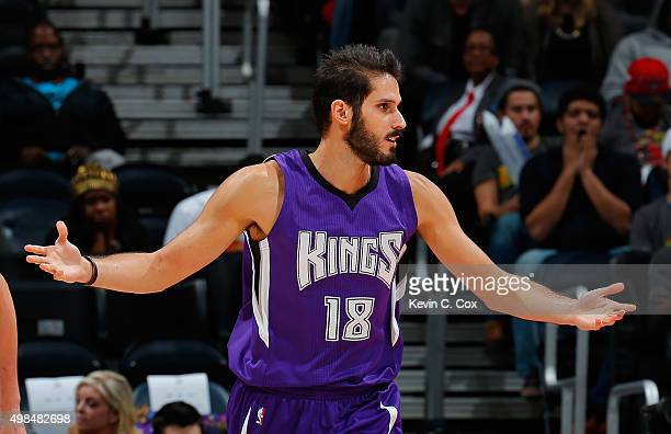 Omri Casspi the Sacramento Kings against the Atlanta Hawks at Philips Arena on November 18 2015 in Atlanta Georgia NOTE TO USER User expressly...