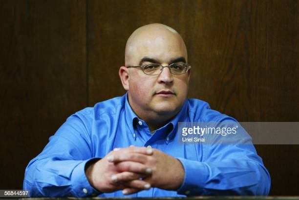 Omri Sharon, the son of Israeli Prime Minister Ariel Sharon, waits for his sentence during a corruption trial on February 14, 2006 in Tel Aviv,...