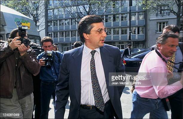 Valenciennes case: confrontation with the Football Federation In Paris, France On April 22, 1994 - Michel Coencas, chairman of the Valenciennes...