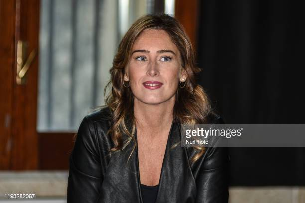 On 11 January 2020 in Palermo the group leader of the Chamber of Deputies of Italia Viva Matteo Renzi's new political party Maria Elena Boschi spoke...