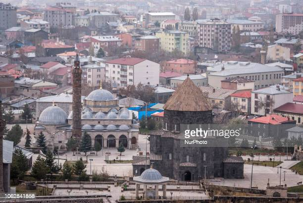 On 12 November the Cathedral of Kars stands before a panorama view of the city of Kars one of the largest urban areas in the northeast Anatolian...